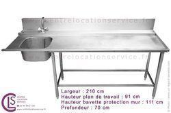 EVIER + TABLE INOX