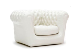 CHESTERFIELD FAUTEUIL BLANC