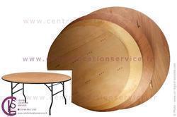 GRANDE TABLE RONDE EN BOIS