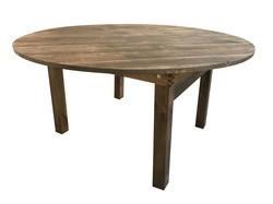 GRANDE TABLE RONDE RUSTIQUE HÉRITAGE