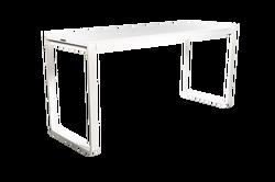 TABLE HAUTE KUBO BLANCHE PLATEAU BLANC 230CM