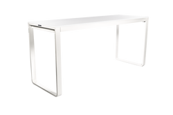 TABLE HAUTE KUBO NOIRE PLATEAU BAMBOU 230CM