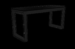 TABLE HAUTE KUBO NOIRE PLATEAU NOIR 230CM